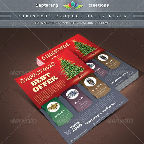 Christmas Product Offer Flyer