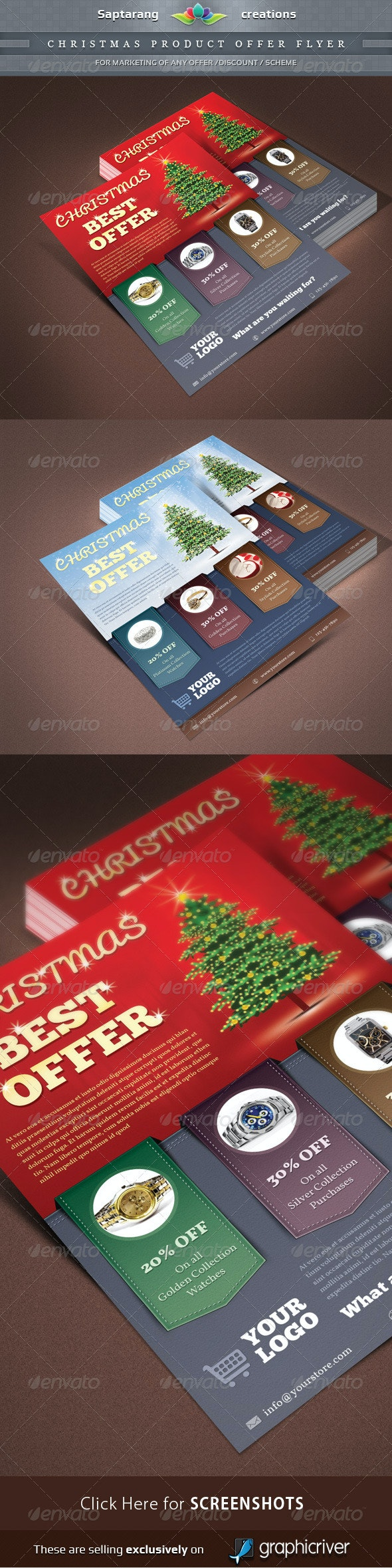 Christmas Product Offer Flyer  - Events Flyers