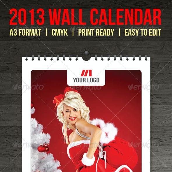 2013 Wall Calendar Template