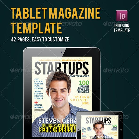 Magazine Template for Tablet