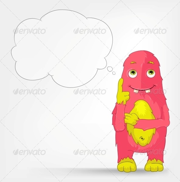 Funny Monster. Thinking. - Monsters Characters