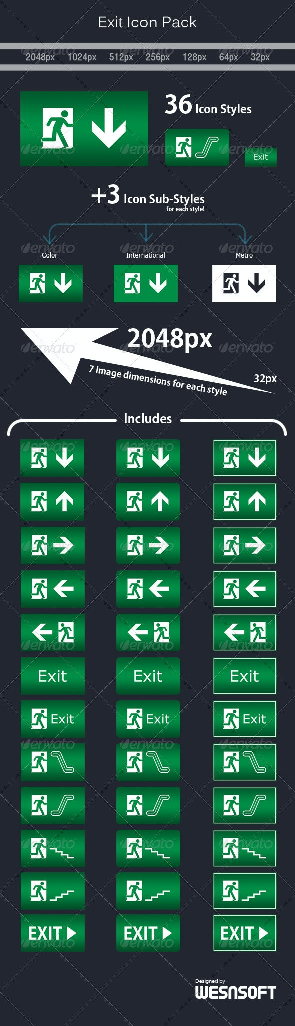 Exit Icon Pack - Miscellaneous Icons