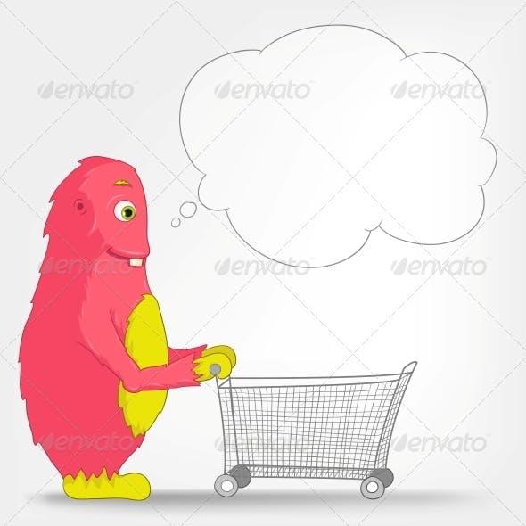 Funny Monster - Shopping