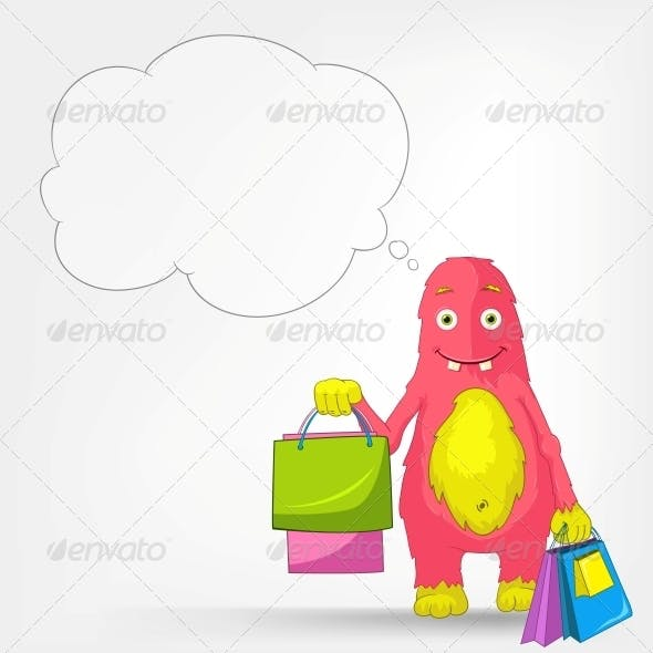 Funny Monster - Shopping