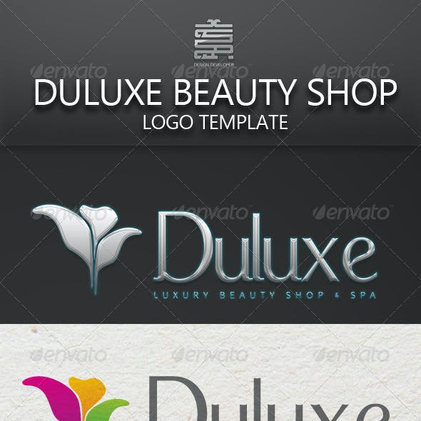 Deluxe Beauty Shop and Spa Logo Template