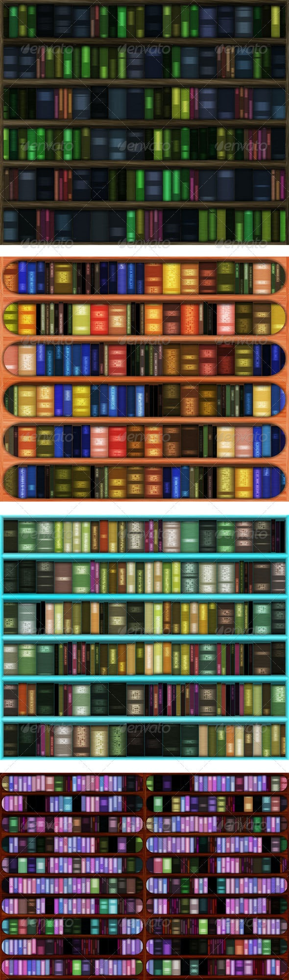Four Library Backgrounds - Miscellaneous Backgrounds