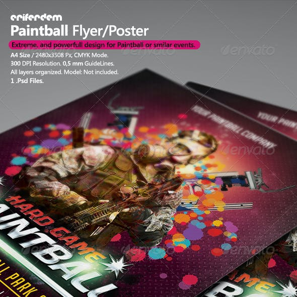 PaintBall Flyer/Poster Template