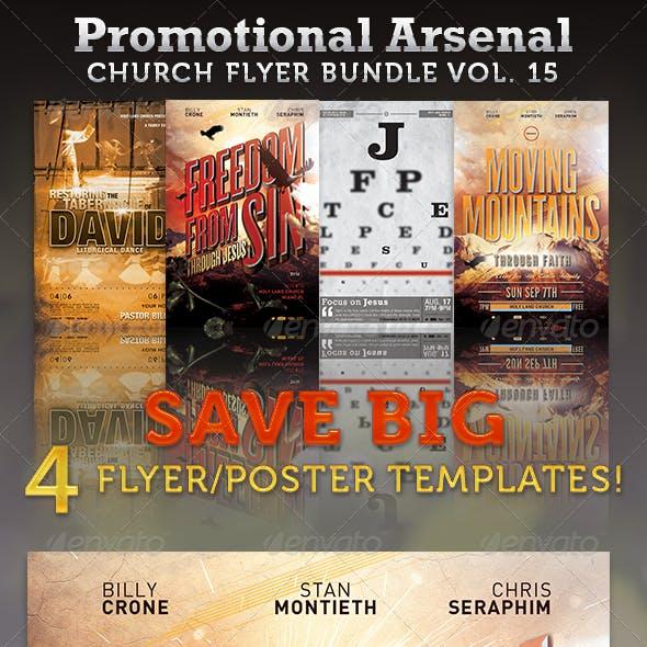 Promotional Arsenal Church Flyer Bundle 15