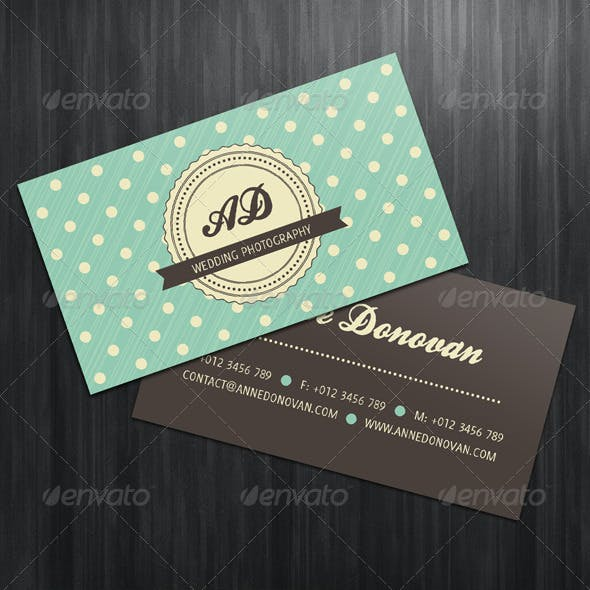 Retro Business Card (4 Color Variations)
