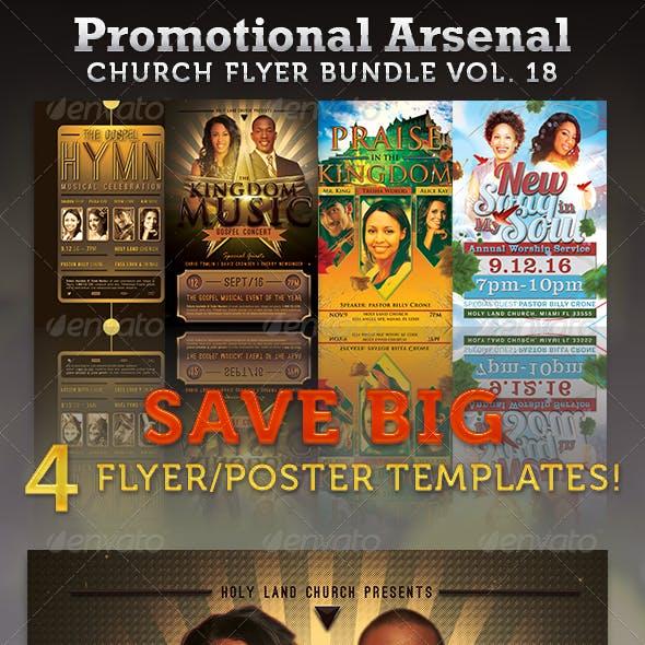 Promotional Arsenal Church Flyer Bundle 18