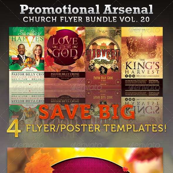 Promotional Arsenal Church Flyer Bundle 20