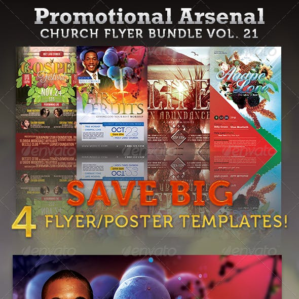 Promotional Arsenal Church Flyer Bundle 21