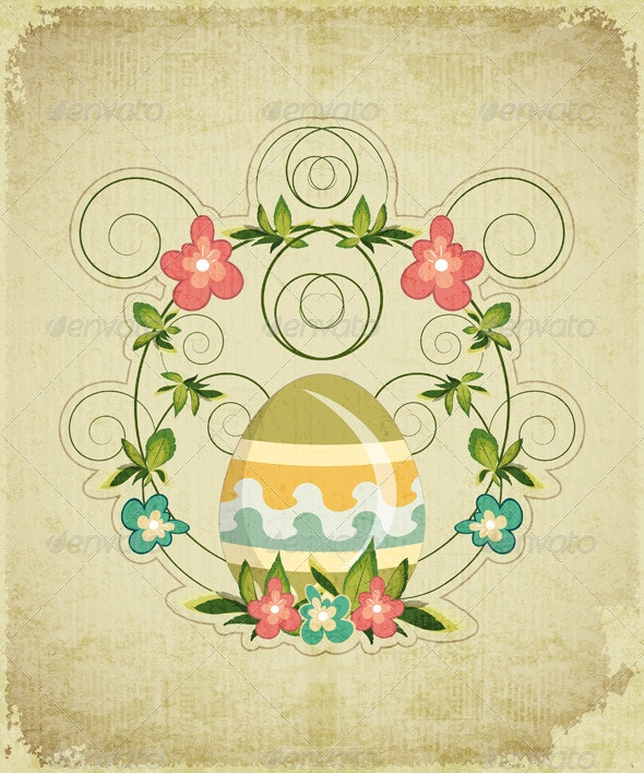 Vintage Easter Card - Seasons/Holidays Conceptual