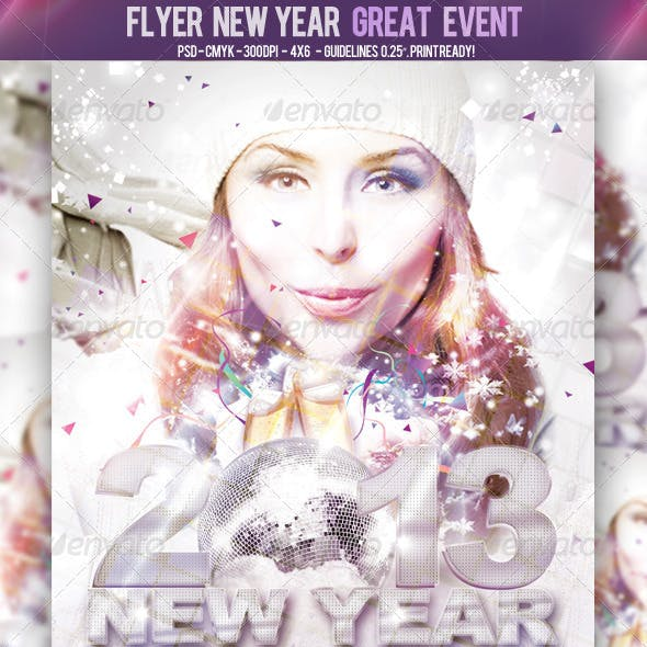 Flyer New Year Great Event