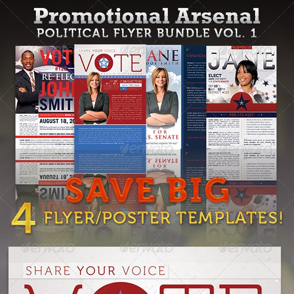 Promotional Arsenal Political Flyer Bundle 1