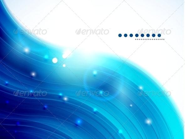 Blue Glittering Wave Background - Backgrounds Business