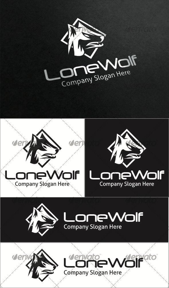 Lone Wolf Logo - Animals Logo Templates