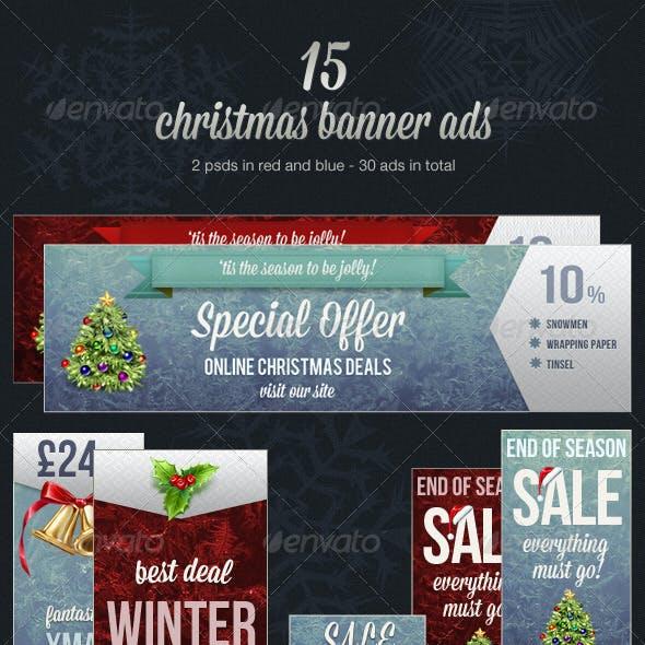 Christmas Web Banner Ads