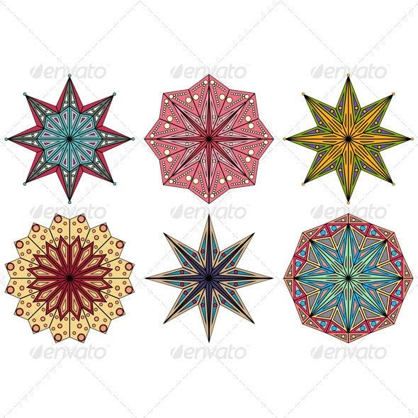 Set of Ornamental Elements - Decorative Symbols Decorative