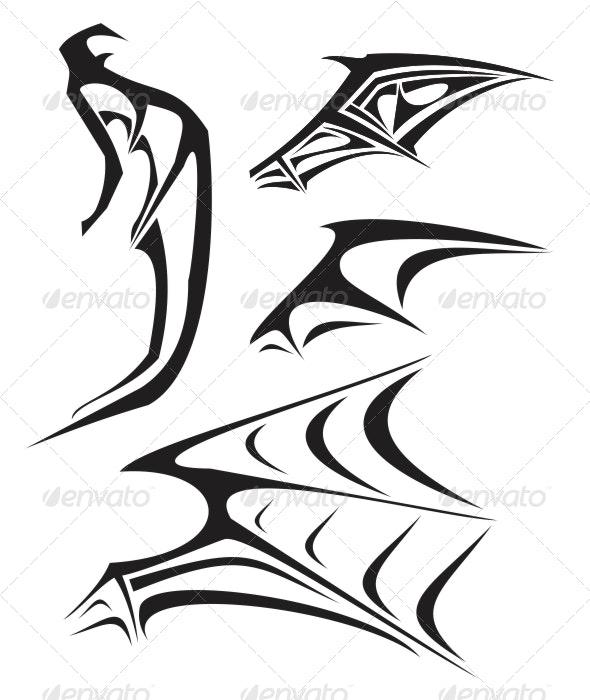 Demon's Wing Tattoo