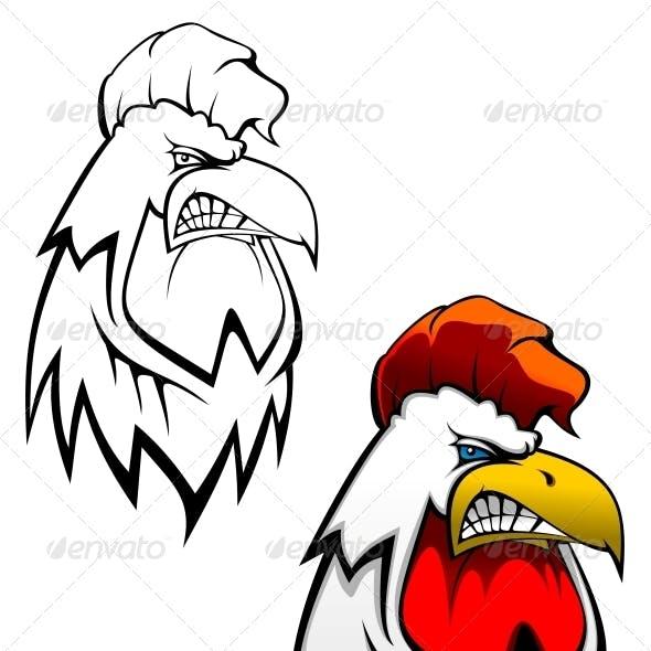 Rooster Head Tattoo