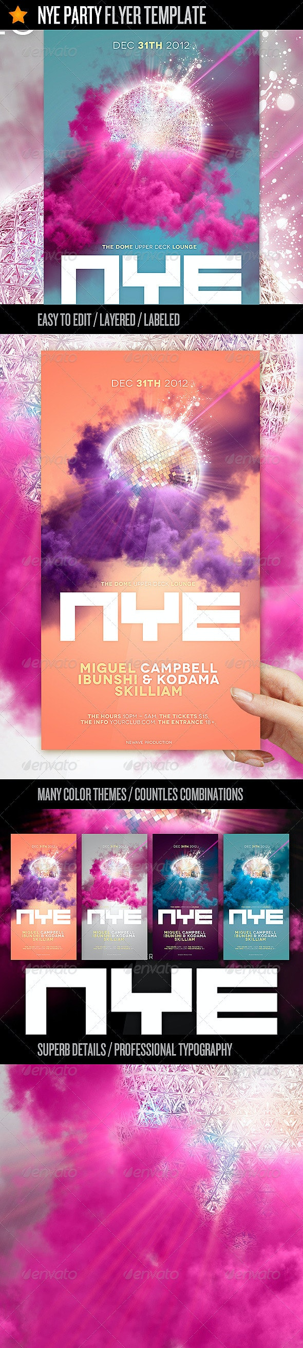 NYE Party - Flyer Template - Events Flyers
