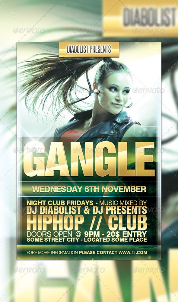 Party Flyer Design - Clubs & Parties Events