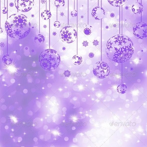 Elegant Purple Christmas Background - Christmas Seasons/Holidays