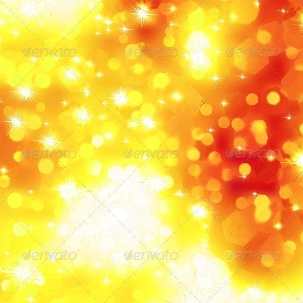 Glittery Orange Christmas Background - Christmas Seasons/Holidays