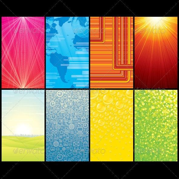 Smartphone Backgrounds Set 1 - Backgrounds Decorative