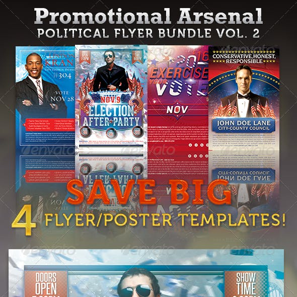 Promotional Arsenal Political Flyer Bundle 2