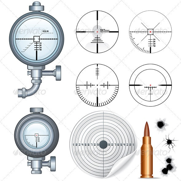 Sniper Scope and Crosshair - Man-made Objects Objects