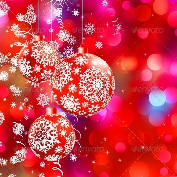 Christmas Bokeh Background with Baubles - Christmas Seasons/Holidays