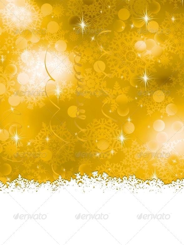 Orange Christmas Background - Christmas Seasons/Holidays