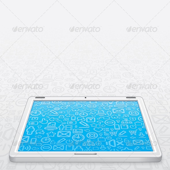 White Tablet PC Vector - Computers Technology