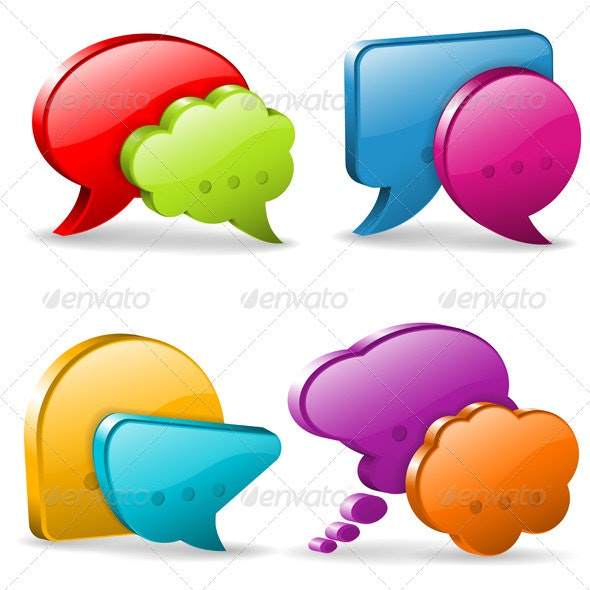 Speech and Thought Bubbles - Communications Technology