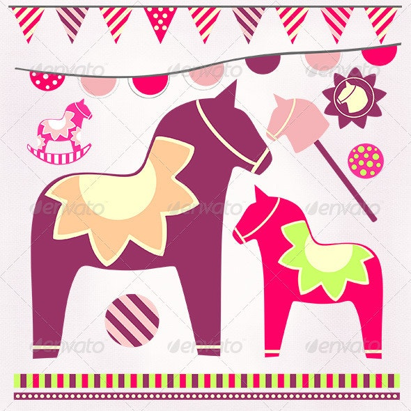 Decorative Horse - Animals Characters