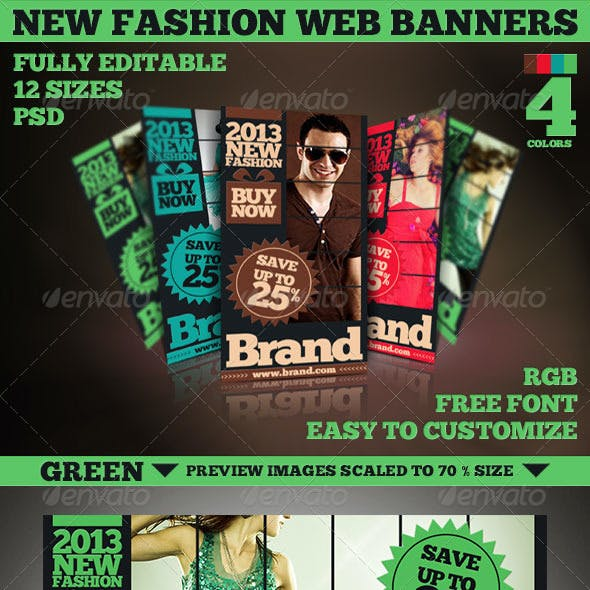 New Fashion Web Banners & Advertise