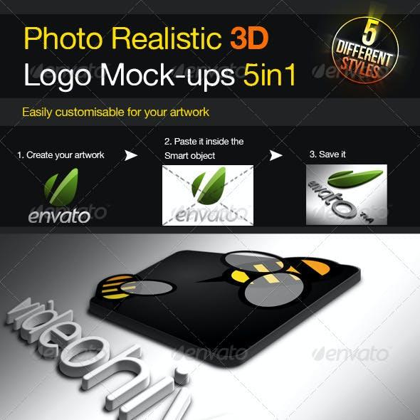 Photo Realistic 3D Logo Mock-up