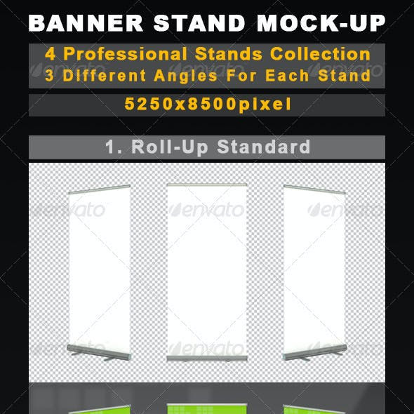 Banner Stands Mock-Up Collection