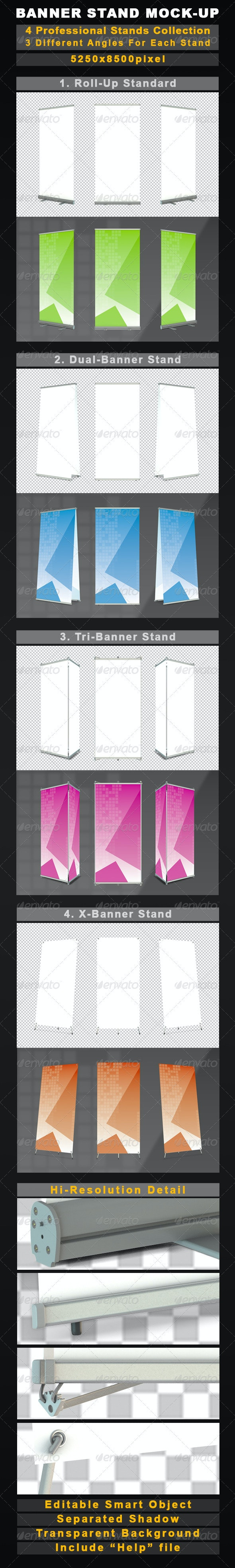 Banner Stands Mock-Up Collection - Signage Print