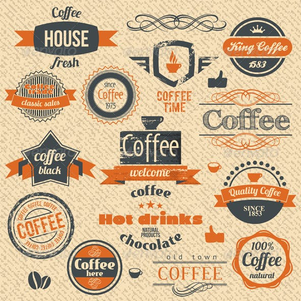 Coffee Stamps and Label Design