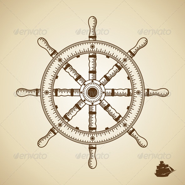 Vector Rudder - Decorative Symbols Decorative