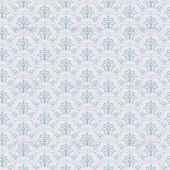 Blue Seamless Wallpaper Pattern - Patterns Decorative