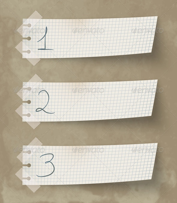 One Two Three Labels - Decorative Symbols Decorative