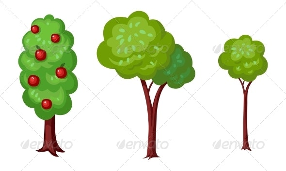 Three Green Trees - Flowers & Plants Nature
