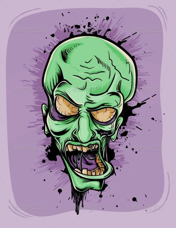 Screaming Zombie - Halloween Seasons/Holidays