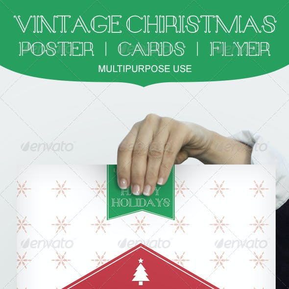 Vintage Christmas Poster/Cards/Flyer