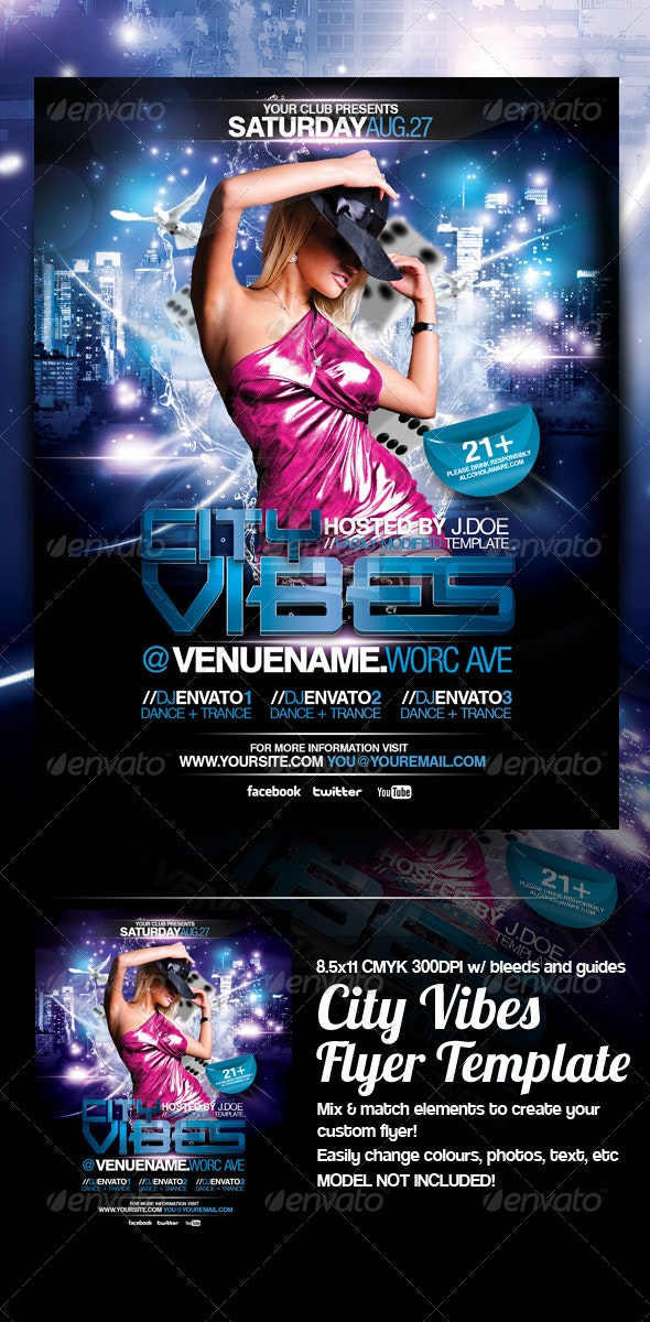 City Vibes Flyer Template - Events Flyers