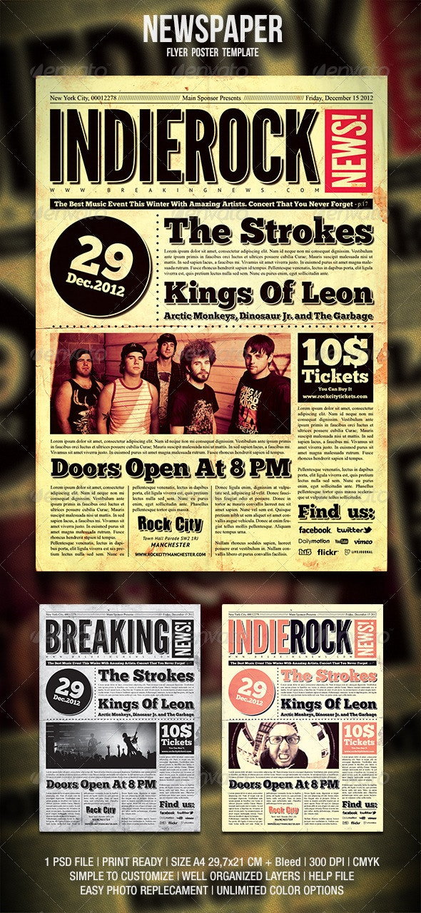 Newspaper Flyer / Poster - Events Flyers